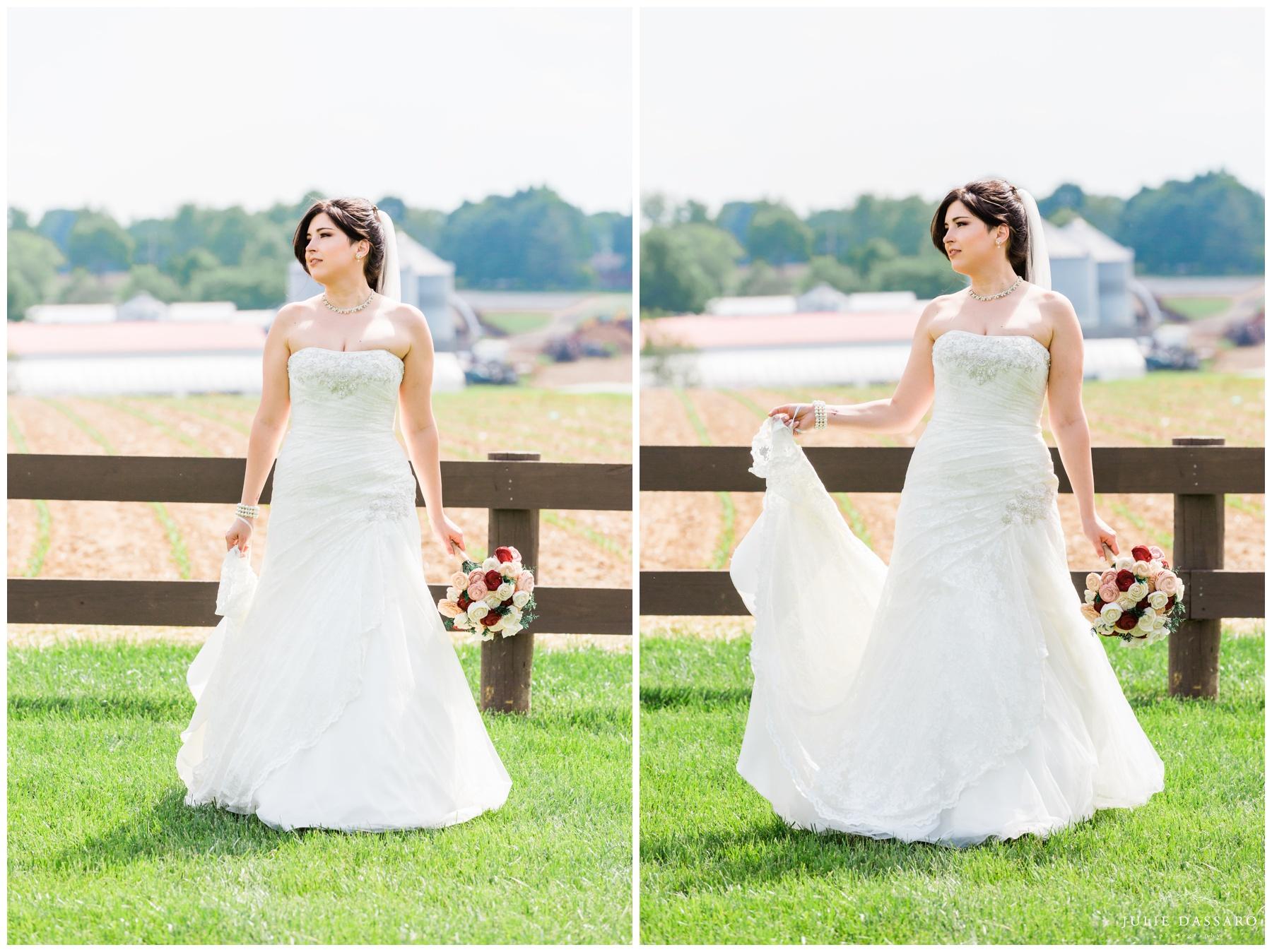 country bride on farm NJ