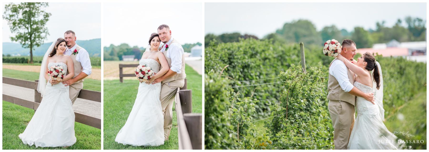 bride and groom portraits lush greenery
