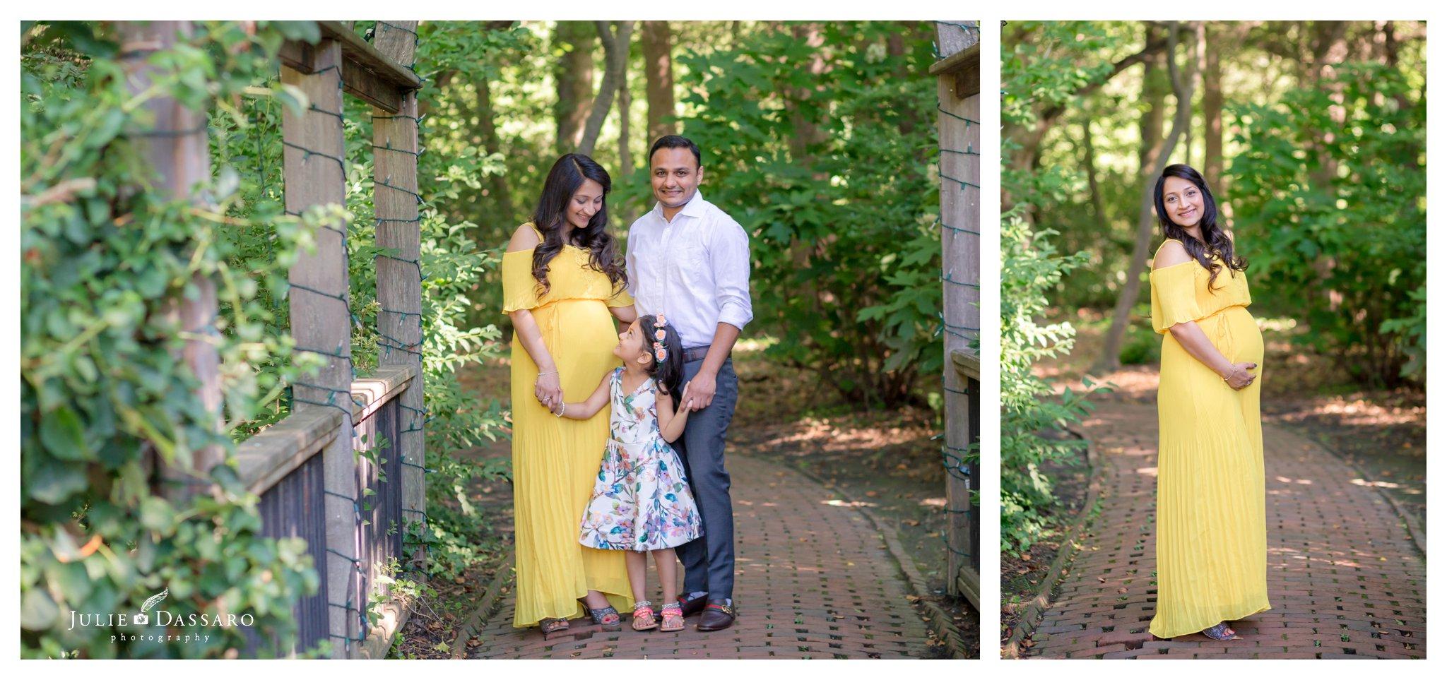 family photo under trellis