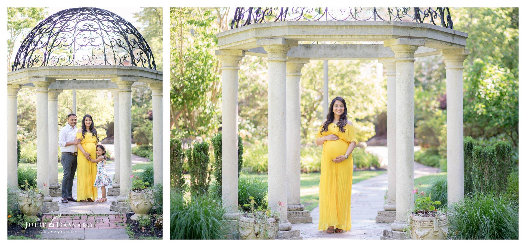maternity portrait in yellow dress