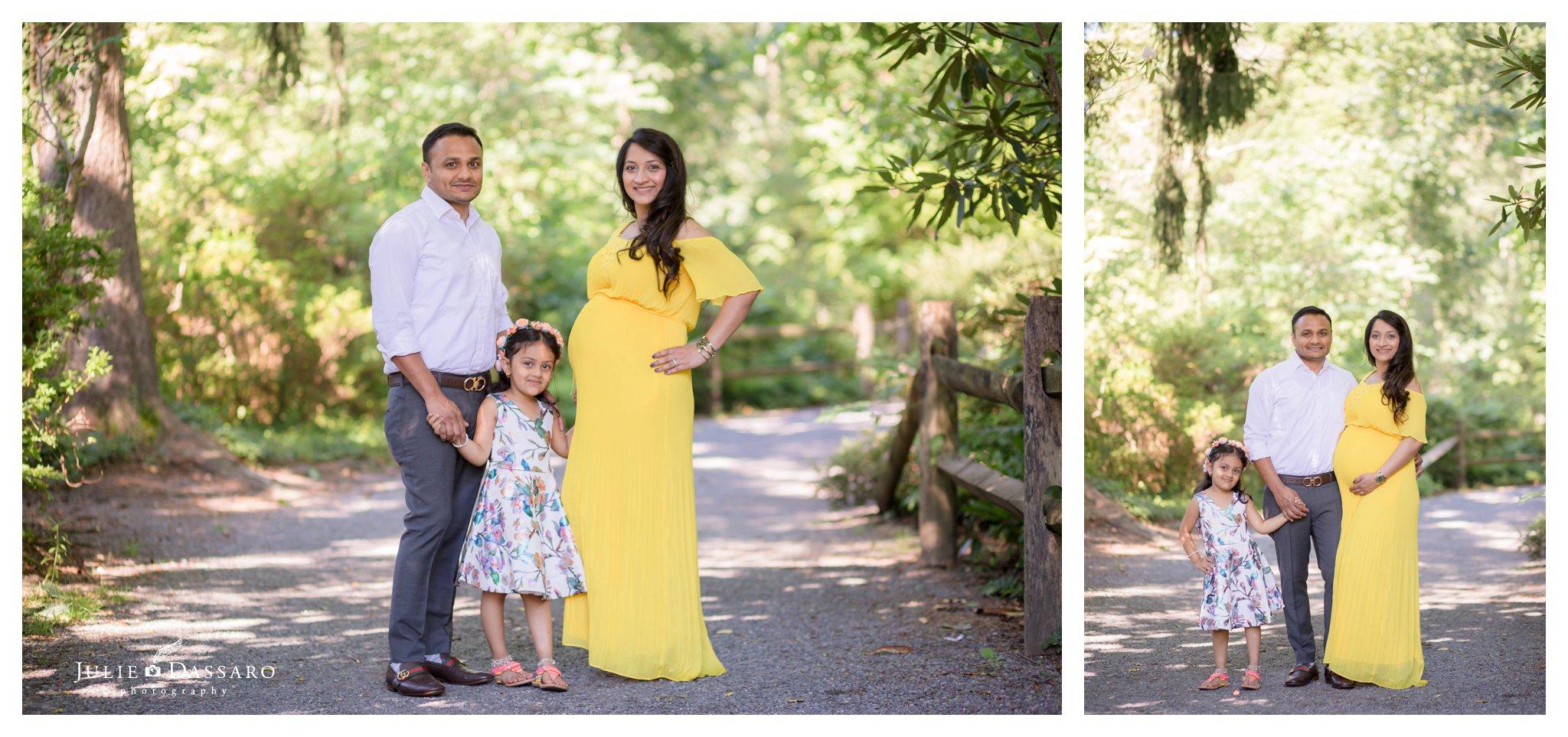 sunny family portrait