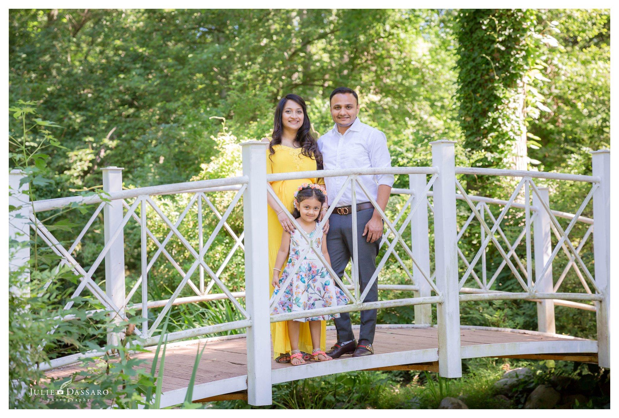 family picture on bridge
